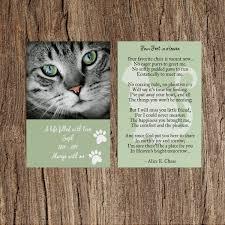 cat memorial memorial cards for cats weprint ie