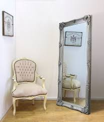 Shabby Chic Large Mirror by Abbey Large Full Length Shabby Chic Vintage Leaner Mirror Silver