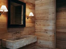 Bathroom Sink Decorating Ideas by Bathroom 16 Rustic Bathroom With Unfinished Wood Wall