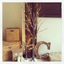 led light up indoor outdoor snow covered brown twig tree