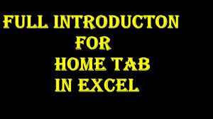 Excel Spreadsheet Courses Online Full Introduction Excel Home Tab Excel Tutorial In Hindi Youtube