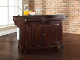 kitchen stunning brown kitchen island cart granite top design