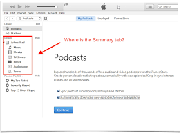 apple itunes help desk where is the summary tab in itunes quick guide with pictures