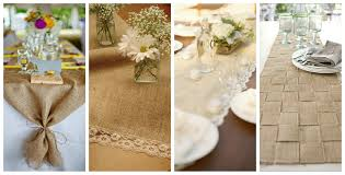 decorating interesting burlap table runner for home decoration