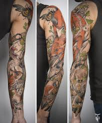 i create nature and art nouveau inspired tattoos bored panda