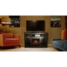 decor flame media electric fireplace for tvs up to 55