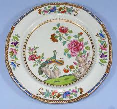copeland spode china peacock plate early antique price