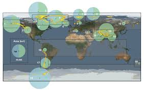 Map Of World Before Ice Age by Calculating Glacier Ice Volumes And Sea Level Equivalents