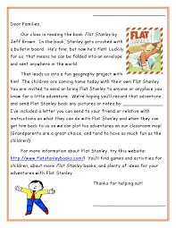 flat stanley letters with instructions on what the students are