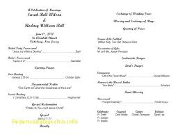 christian wedding ceremony program catholic wedding program template without mass free