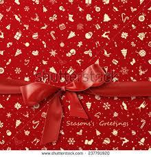christmas wrapping bow bow christmas wrapping stock vector 237791920