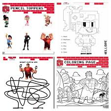 wreck ralph printable activity kit