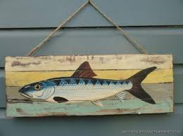 painted wooden fish σχεδια ψαριων απο πηλο kala
