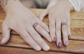 tattoos of wedding rings tattoo wedding rings the new way of exchanging of vows