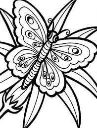 Butterfly Flower Flower With Butterfly Coloring Pages Animal Coloring Pages