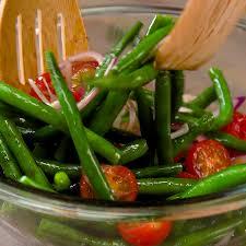 fresh green bean salad with balsamic dressing tiphero