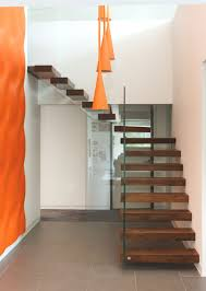 Floating Stairs Design Floating Stairs And Glass Walls Embedded In Custom Staircase