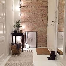 kleiner flur ideen 30 trendige brick wall ideen für entryways beste inspiration