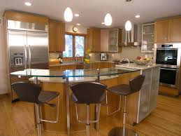 kitchen island with bar top resplendent bar height kitchen island with curved glass bar top