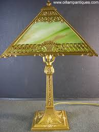 Glass Lamps This Antique Electric Slag Glass Lamp Is One Of The Smaller Styles