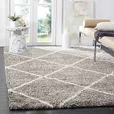 Shag Carpet Area Rugs Safavieh Hudson Shag Collection Sgh281b Grey And Ivory