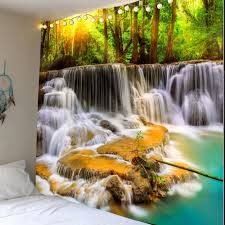 decorative accents w79 inch l71 inch mountain waterfalls