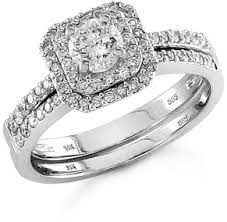 3 4 carat art deco diamond wedding ring set