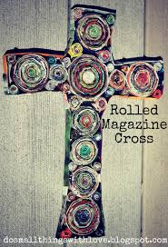 folded magazine cross u2013 do small things with love