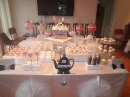 kitchen tea party ideas pink and purple candy and dessert buffet bridal wedding shower party