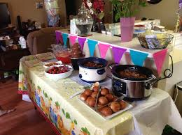 food table setup for baby shower baby shower ideas pinterest