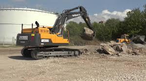 volvo big large ec380dl volvo excavator crush big rocks in 2013 youtube