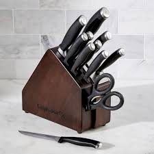 calphalon kitchen knives calphalon space saving sharpin 12 knife block set