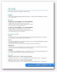 scarica curriculum vitae europeo da compilare gratis pdf modelli di curriculum vitae in word da scaricare gratis