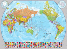 Map Poster World Map Poster Framed Or As Bulletin Board