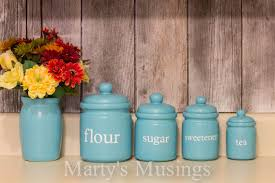 blue kitchen canisters whimsical kitchen canisters