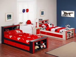 bedroom design boys twin bed get bunk for best choice bedroom design black bed with red linen and underbed storage drawers also