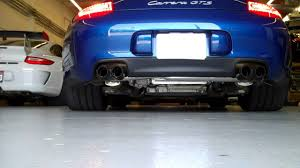 porsche sharkwerks sharkwerks exhaust on 2011 porsche 997 gts with porsche sport