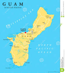 United States Political Map by Guam Political Map Stock Vector Image 95534440