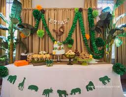 jungle birthday party jungle birthday ethan s jungle safari 1st birthday party