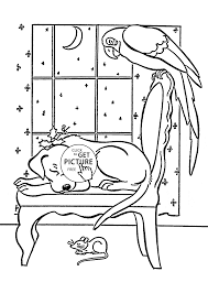 pets sleep coloring page for kids animal coloring pages