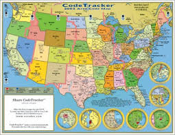 us area code 2003 codetracker area code map area codes for the us canada and