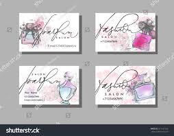 makeup artist business card vector template stock vector 511161163