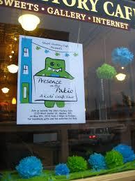 kira u0027s crafty life blog window display at shirt factory cafe