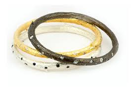 black gold bangle bracelet images Little diamonds get a terrific new life jpg