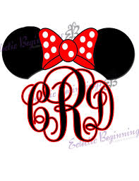 iron on monogram initials personalized and custom disney monogram initials ears name