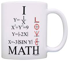 I Love Lucy Home Decor Amazon Com Funny Math Gift I Love Math Graphs Functions Algebra