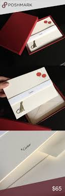 cartier stationary cards w envelopes box cartier and envelopes