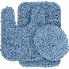 Washable Bathroom Carpet Cut To Fit Jazz Shaggy Nylon 3 Piece Washable Bathroom Rug Set Walmart Com