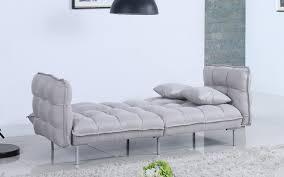 Light Grey Tufted Sofa by Scoop Modern Tufted Linen Futon Sofamania Com