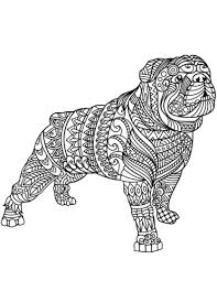 free printable zentangle coloring pages bulldog zentangle coloring page free printable coloring pages